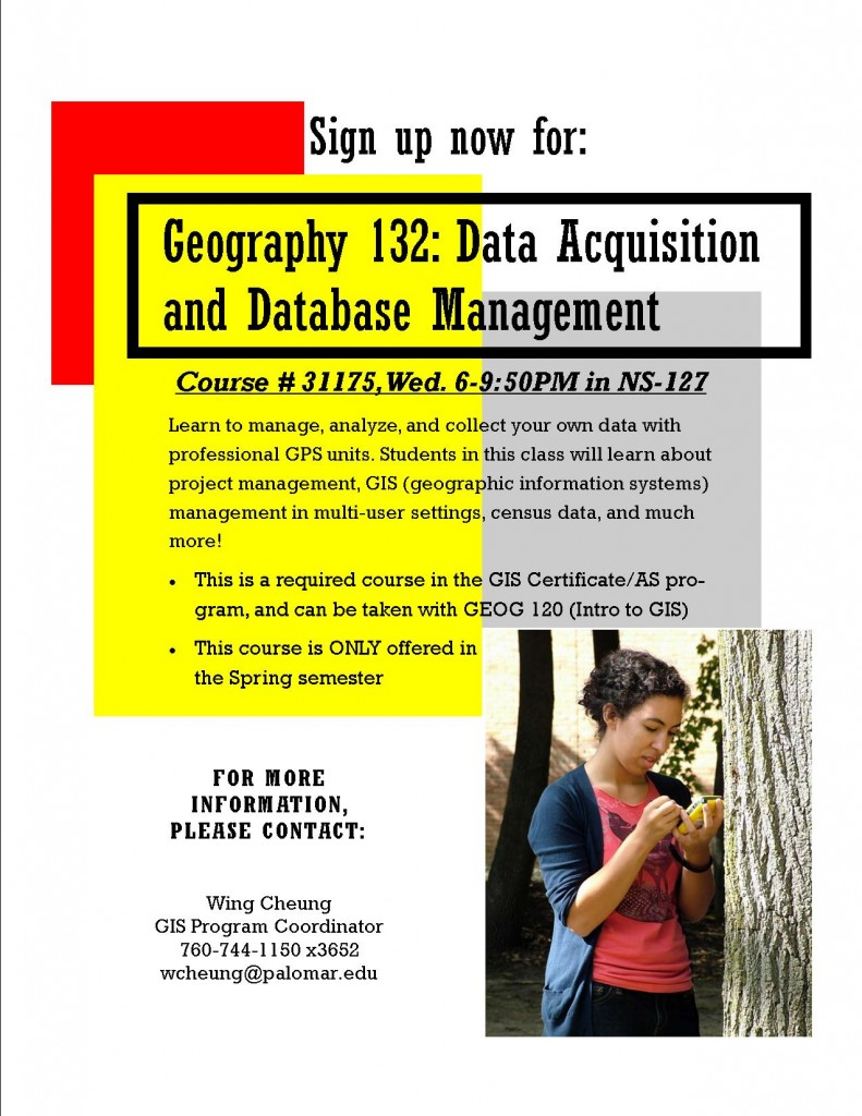 Enroll in Geography 132 today (ID # 31175)!