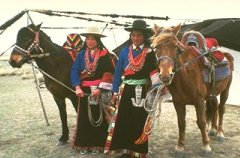 Photo Of Two Mongols Standing Next To Their Horses Mongolian Horse Pastoralist Camp