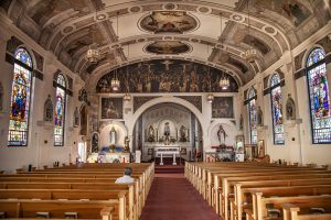 The inside of the Lady of The Rosary Church in Little Italy