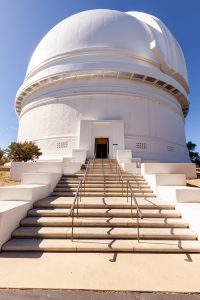 The entrance of the Palomar Observatory.
