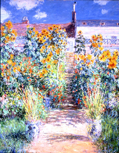 Wonderful The Artistu0027s Garden At Vetheuil. 1881. Oil On Canvas. The Norton Simon  Museum Of Art, Pasadena, California.