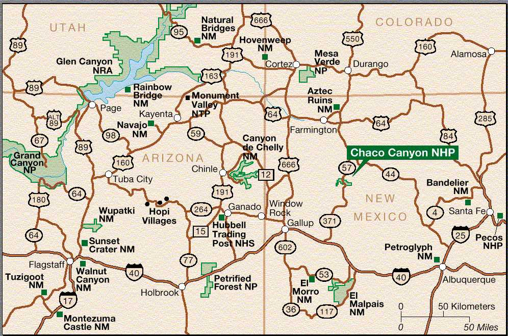 Chaco Canyon Maps