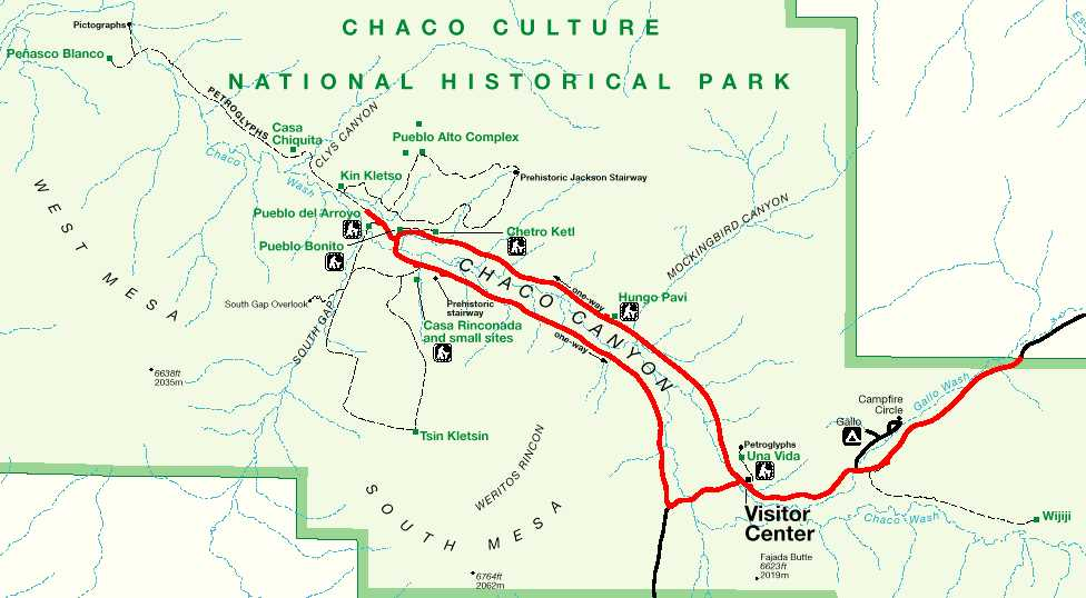 Chaco Canyon Map Chaco Canyon Maps