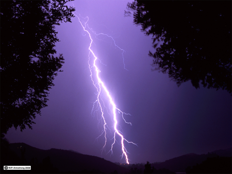 Lightning Over North Twin Oaks Valley San Marcos Fujichrome Transparency Taken By W P Armstrong Summer